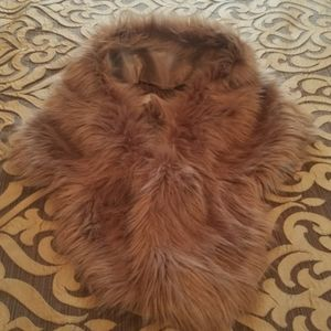 Brown Faux Fur Shawl for Bridal Party